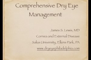 Comprehensive Dry Eye Management